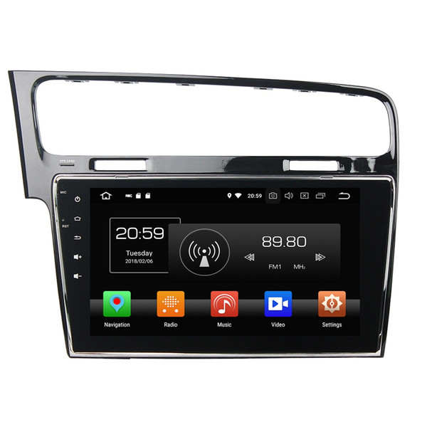 """4GB+64GB Octa Core 1 din 10.1"""" Android 8.0 Car DVD Player for VW Volkswagen Golf 7 2013 2014 2015 RDS Radio GPS WIFI Bluetooth Mirror-link"""