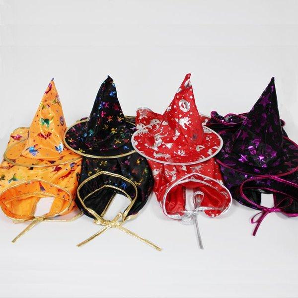 Хэллоуин костюм атласная накидка с шляпой для детей мальчики мастера и девочки ведьма косплей Хэллоуин