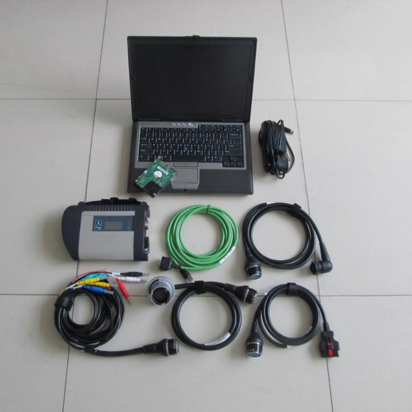 2016 высшего качества MB Star C4 SD Connect с программным обеспечением 09 / 2016V с 250 ГБ HDD на нескольких языках с диагностикой автомобиля ноутбук D630 2 ГБ