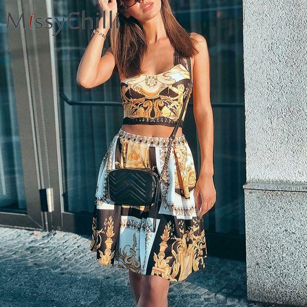 MissyChilli Paisley robes moulantes décontractées en or pour les femmes en dentelle club robe de soirée courte Femme été élégante robe de plage vintage