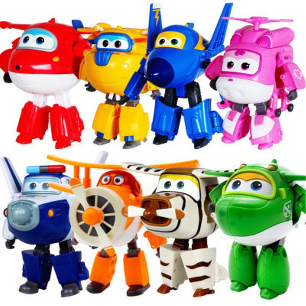 13 styles Super Wings Action Figure Toys Big Airplane Robot Superwings Transformation Anime Cartoon Toys For Children Boys Gift