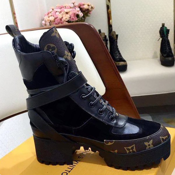 Fashion Boots for Women Height Increasing Women Shoes Ankle Boots Martin Boots Laureate Platform Desert Boot Vintage Women Shoes Casual