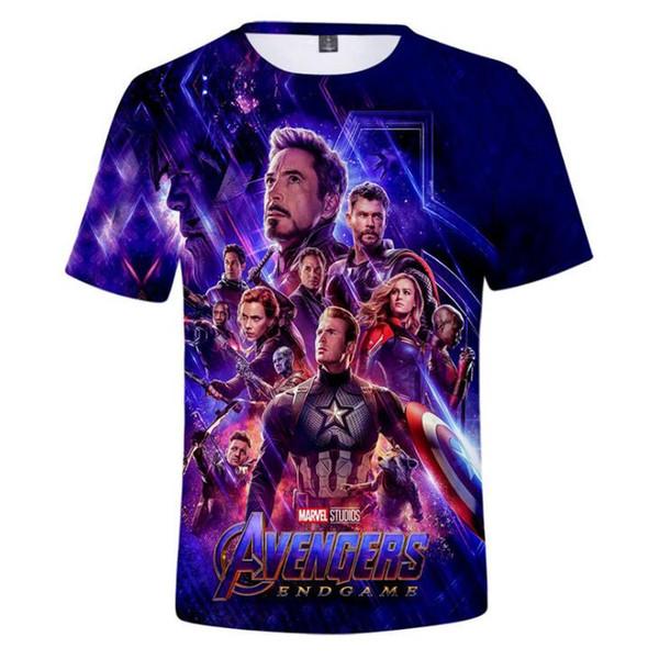 Nuovo design T Shirt Uomo Donna Marvel Novie Avengers 3D T-shirt stampate Manica corta Harajuku Style Tshirt Streetwear Tops