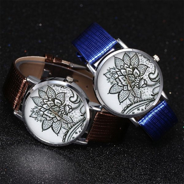 branded wrist watches for women leather Quartz Watch Men's Leather Strap Korean Lady Student Couple Watch #P6