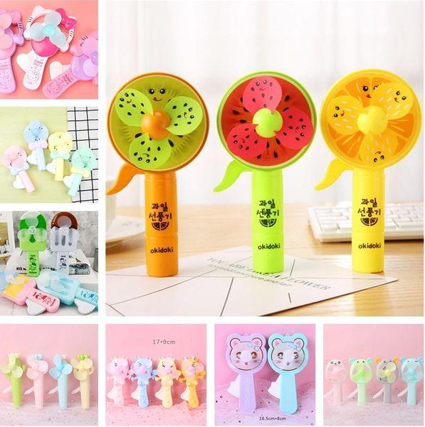 top popular Hot selling in summer Ice cream Hand pressure fan Children's handheld Mini cartoon fans Portable fan T4H0326 2019