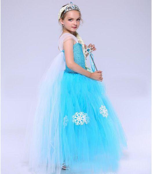 Pretty Eye-catching Kids Ice fairy princess dress girl snowflake photography dress Princess tutu new show clothing wedding evening dress #18