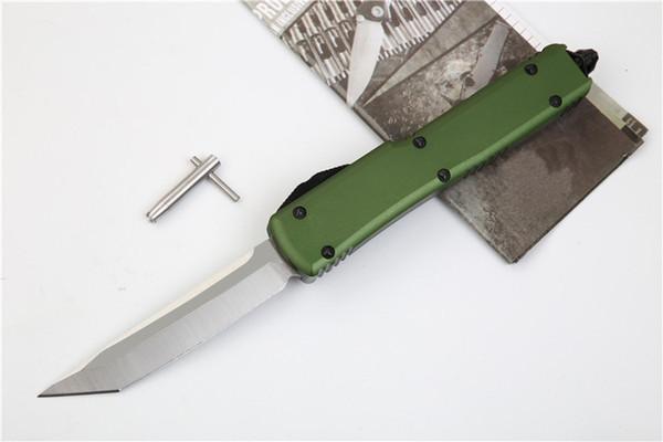 OD Green UTX70 D2 Lama in alluminio Maniglia a doppia azione Automatico Outdoor Tactical Strumento EDC Utilità Regalo Raccogliere coltello 5 Stili J16M A