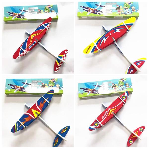 어린이 전기 항공기 장난감 비행기 모델 손 비행기 폼 실행 비행 글라이더 비행기 야외 게임 재미있는 장난감 MMA1897-0를 던져