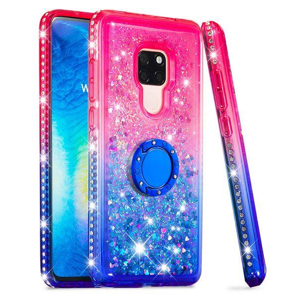 Glitter Liquid Quicksand Hülle für Huawei P30 Pro P20 Lite Handytasche Hülle für Huawei Mate 20 Pro Honor 10 Lite P Smart 2019 Enjoy 9 Y7