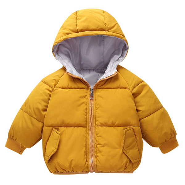2018 Kids down coats Baby Girl Boys Winter Hooded Coat Cloak Jacket Thick Warm Outerwear Clothes baby girl clothes dave bella A