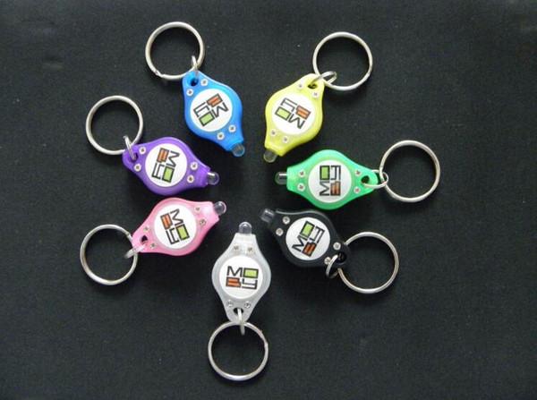Black ultraviolet rays mini Flashlights UV light Money Detector LED Keychain Lights Multicolor Small Gift DHL Free