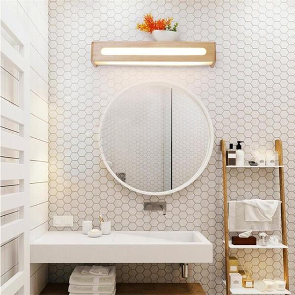 Nordic spiegel scheinwerfer massivholz schminktisch make-up lampe schlafzimmer wandleuchte spiegel kabinett licht bad badezimmerspiegel scheinwerfer 139