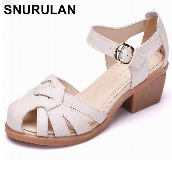 e5257f9e492a SNURULANWomen обувь летние сандалии Женские ручной работы из натуральной  кожи женщины повседневная удобная женская обувь сандалии