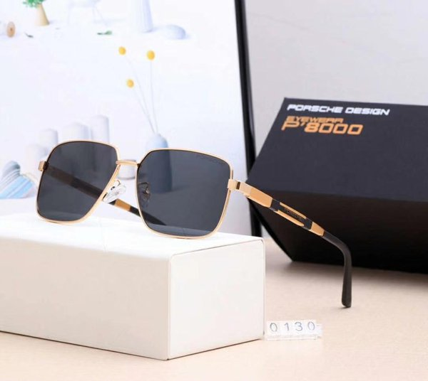 Gafas de sol de diseñador Gafas de sol de lujo de la marca P0130 para hombre Gafas de moda que conducen UV400 Adumbral con estuche y logotipo 5 colores de alta calidad
