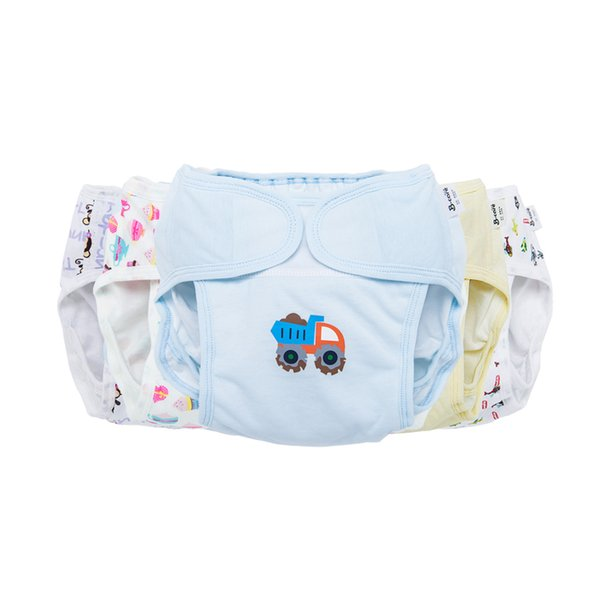 Baby Cotton water proof Soft Diaper Nappies Cover Reusable Washable Size Adjustable button Diapers 0-18 months