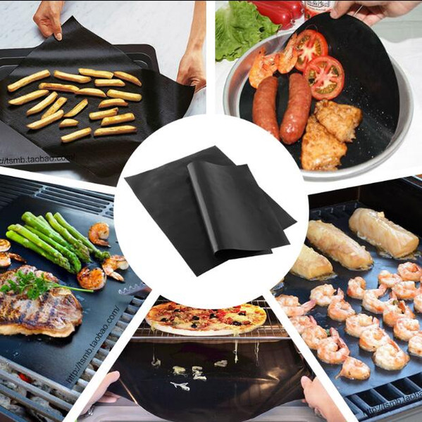 BARBEKÜ Paspaslar Cam elyaf yapışmaz tava Yüksek sıcaklık BARBEKÜ ızgara mat Kullanımlık kolay temizlik BARBEKÜ mat açık Barbekü ped pişirme araçları CLS88