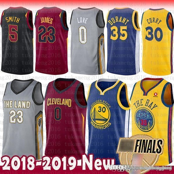 Finals Bound Stephen 30 Curry Kevin 35 Durant LeBron 23 James Jersey Golden  State Green Klay Warriors CLEVELAND Love CAVALIERS e00e84b00