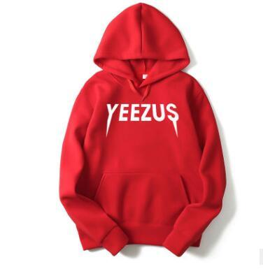 Male and female hip-hop hooded hoodies New designer YEEZUS for men Kan ye West Sports and leisure men's sweater