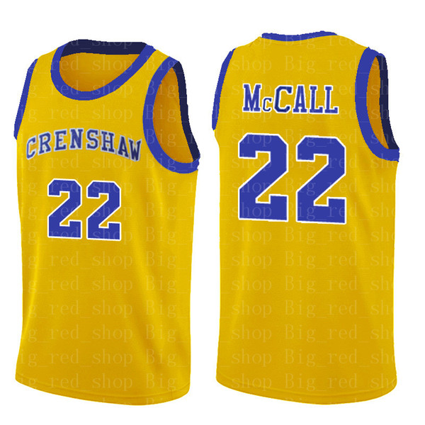 NCrenshaw High School 22 Quincy McCALL Movie College Basketball Jerseys Blue White Sport Shirt Top Quality S-XXL