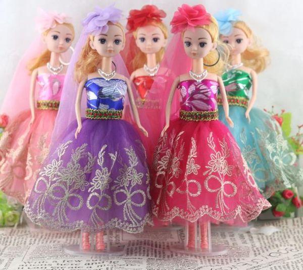 Barbie Doll Bride Groom Marry Barbie Princess Prince Girl Wedding Doll Children Birthday