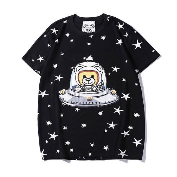 Diseñador de camisetas para hombre tops oso carta impresa camiseta 2019 verano nueva marca para hombre ropa marca manga corta camiseta mujer tops s-2xl