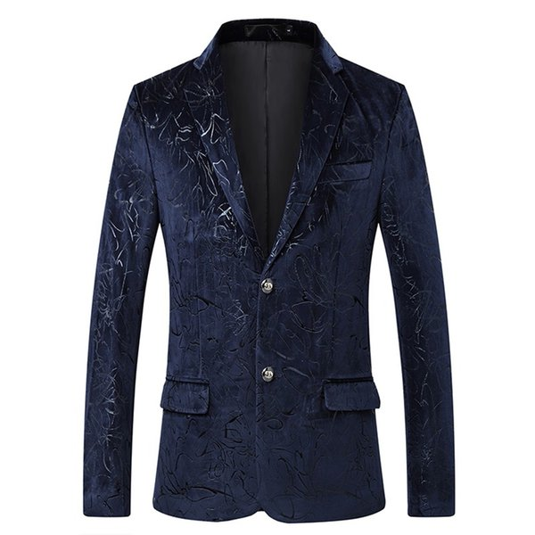Classic Male Blazers Casual Luxury Blazer Men Print Stylish Party Singer Dress Jacket Suit Floral Tuxedo Design Fashion Slim Fit