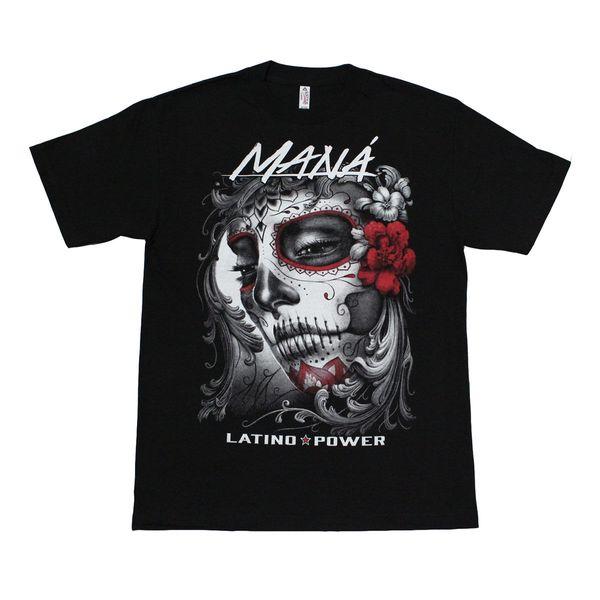 MANA Hommes T-shirt Coloré Graphique Latino Power Funny Livraison gratuite Unisexe Casual