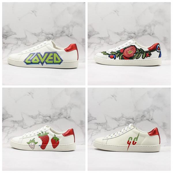 19SS Ace Sneaker Blade Sevilen Düşük Üst Sneakers Homme Erkek Tasarımcı Ayakkabı Moda Rhyton Sneaker Bayan Eğitmenler Chaussures Boyutu 35-44