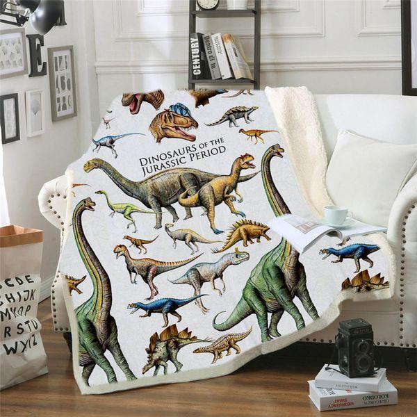 Dinosaur EHOMEBUY2019 New 3D Series Printed Blanket Modern Início / Hotel 2 tamanhos Moda Infantil Anime personalizado Blanket