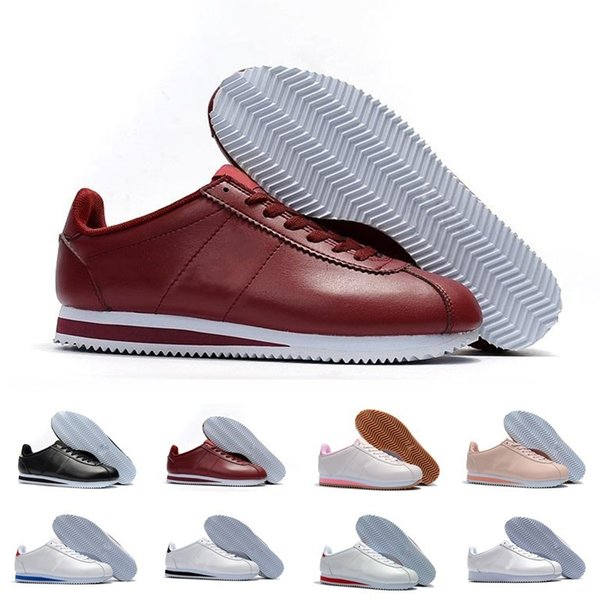 low priced 77d29 9736f 2019 Nike Airmax Cortez Shoes Classic Cortez Basic Leather Casual Shoes Barato  Moda Hombres Mujeres Negro Blanco Rojo Dorado Zapatillas De Skate  Skateboard ...