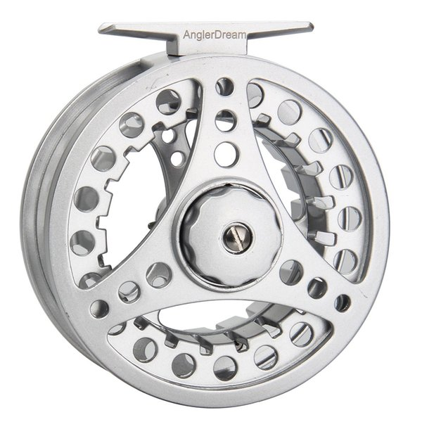1/2 3/4 5/6 7/8wt fly reel silver die casting large arbor fly fishing reel spare spool available thumbnail