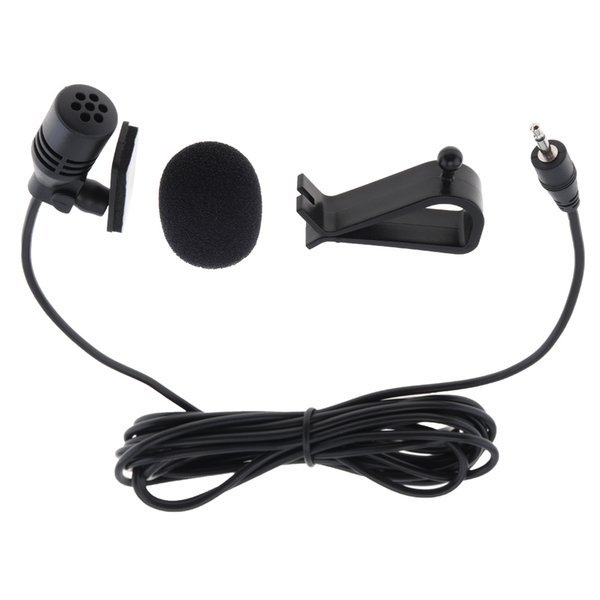 PVC Wired 2.5 mm Stereo Jack Mini 3m Car Microphone External Mic for PC Car DVD / GPS Player / Radio Audio Microphone PMP_52F