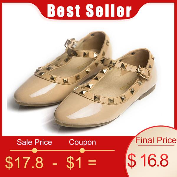 Cctwins Enfants Printemps Filles Marque Pour Bébé Stud Chaussures Enfants Nude Sandal Toddler Été Noir Blanc Flats Partie Chaussure G358 MX190726