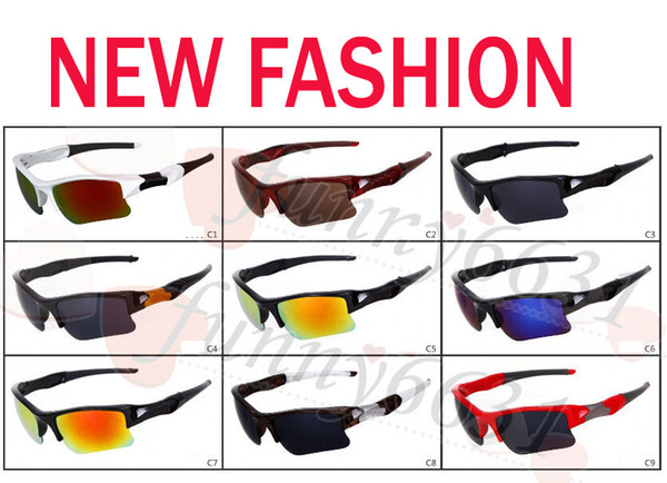 best selling summer brand new fashion men's Bicycle Glass sun glasses Sports goggles driving sunglasses cycling 9colors good quality free shipping