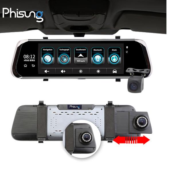 "Phisung E08 plus Car DVR 10""IPS Touch 4G Mirror Android ADAS GPS FHD 1080P WIFI auto registrar rear view with camera"