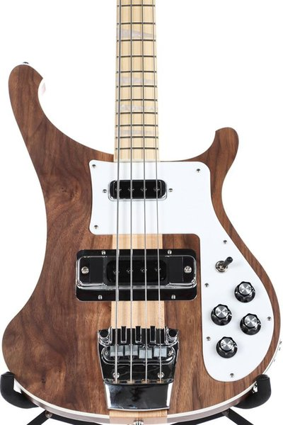 Rare 4003W Naturale Noce Basso 4 corde basso corpo NOCE epoca ric 4003 Basso collo della chitarra elettrica Thru Body One PC Collo Corpo Nuovo caldo