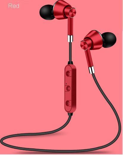 Hersteller Direktverkauf von Metall in Ohr Sport laufen drahtlose Stereo magnetische Absorption Bluetooth-Headset grenzüberschreitende Explosion, fr