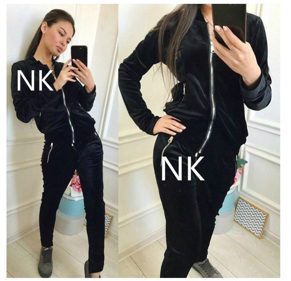 NEO SHAR pink High quality Letter sports suit long sleeved jacket + long pants 2 pieces fitness suit jogging sportswear Yoga wear gosha