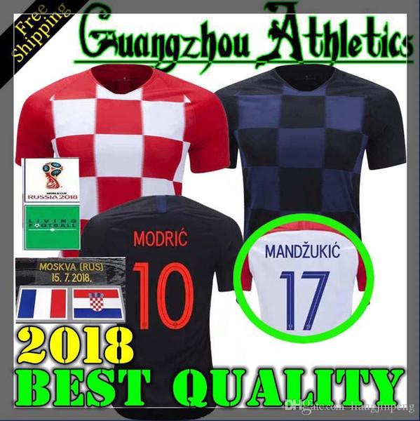 super popular f5e3b e0466 2018 World Cup Designed For CroATia Home Soccer Jersey MODRIC PERISIC  RAKITIC MANDZUKIC SRNA KOVACIC Red KALINIC Hrvatska Football Shirt UK 2019  From ...