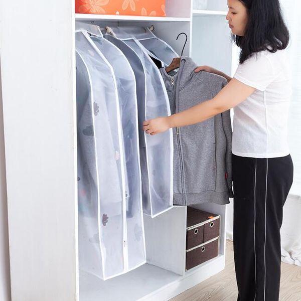 PEVA vêtements sac de rangement vêtement costume couche pare-poussière protecteur accrocher sacs de garde-robe poche pour l'organisation de stockage de vêtements à domicile