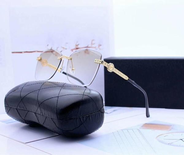 Безрамные женские дизайнерские солнцезащитные очки роскошные солнцезащитные очки модный бренд Ornamenal очки UV400 0004 6 цветов дополнительно высокое качество с коробкой