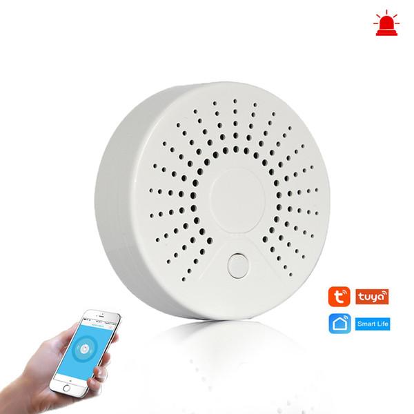 Détecteur de fumée sans fil Détecteur de fumée d'alarme de détection de fumée sans fil pour l'automatisation Système d'alarme de sécurité à domicile Smart life Tuya Smart APP