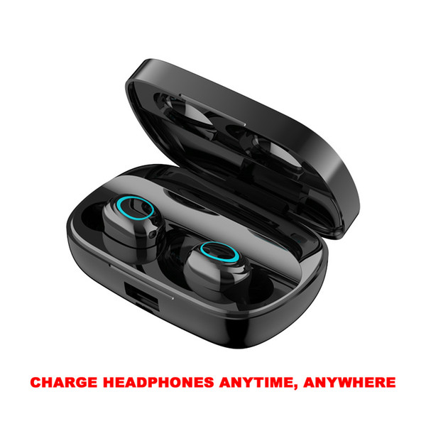 Bluetooth Headphones S11 Mini Touch Control Wireless Earbud Cell Phone Earphones With Power Bank Stereo Sports Gaming Mic Earbud XINGFUYOU