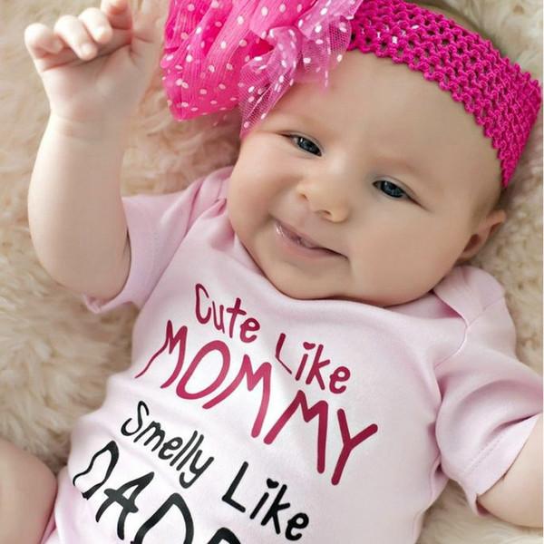 Sommer Kinder Kleidung Baby Kleidung Mädchen Strampler Neugeborenen Kleinkind Baby Mädchen Baumwolle Rosa CottonRomper Overall Outfits Kleidung 0-18 Mt