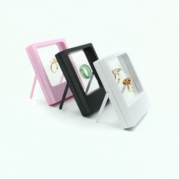 Anillo de la Caja de Exhibición de la Joyería transparente Suspendida Caja de Soporte Flotante Monedas de la Joyería Gemas Estuches para Soportes de Joyería ZC0860