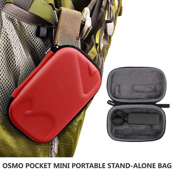 2019 Neues Angebot OSMO POCKET Mini Tragbare Aufbewahrungsbox Stand-alone-Tasche DJI Osmo Pocket Gimbal Kamera Zubehör Rot / Grau