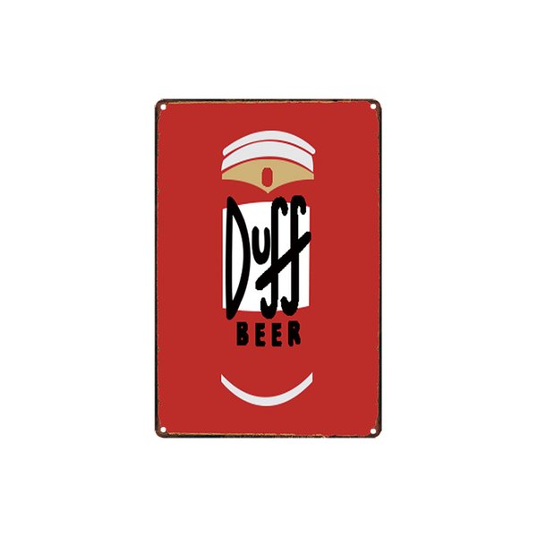 classic vintage DUFF BEER BEER MAKES YOU STRONG THE GENIUS OF THE DUFF tin sign Coffee Shop Bar Wall decor Bar Metal Paintings