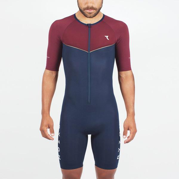 2019 Pro Team Triatlón Traje masculino Ciclismo Jersey corto Traje mono Maillot Ciclismo Ropa ciclismo conjunto 026