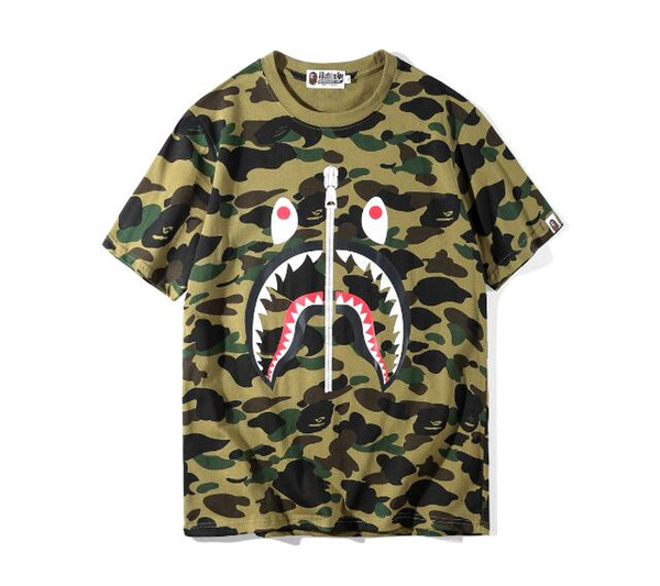 2019 Summer Desinger Mens Women T-Shirts Fashion Crew Neck Short sleeve classic camo Printed Male Tops Tees cotton casual tees