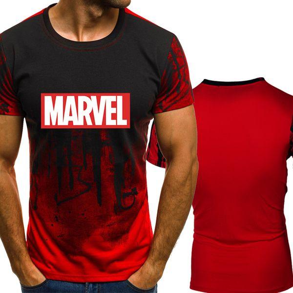 New fashion O-neck summer MARVEL Letter Print men's casual fashion trend short-sleeved T-shirt hip-hop T-shirt shirt